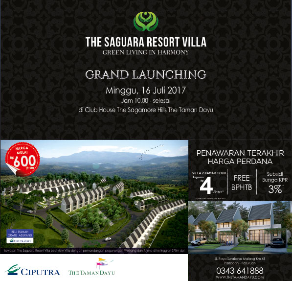 Grand Launching The Saguara Resort Villa