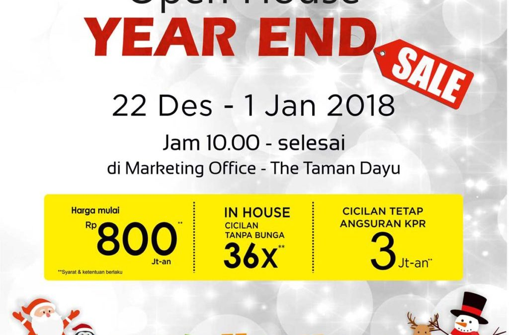 Open House Year End Sale